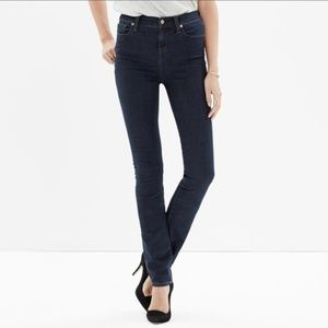 Madewell Alley Straight Dark Wash Jeans, 25